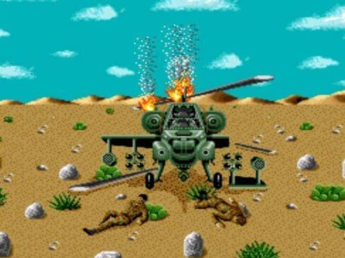 desert strike crashed chopper
