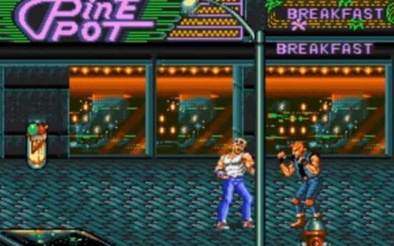 streets of rage sega megadrive pine pot 1991