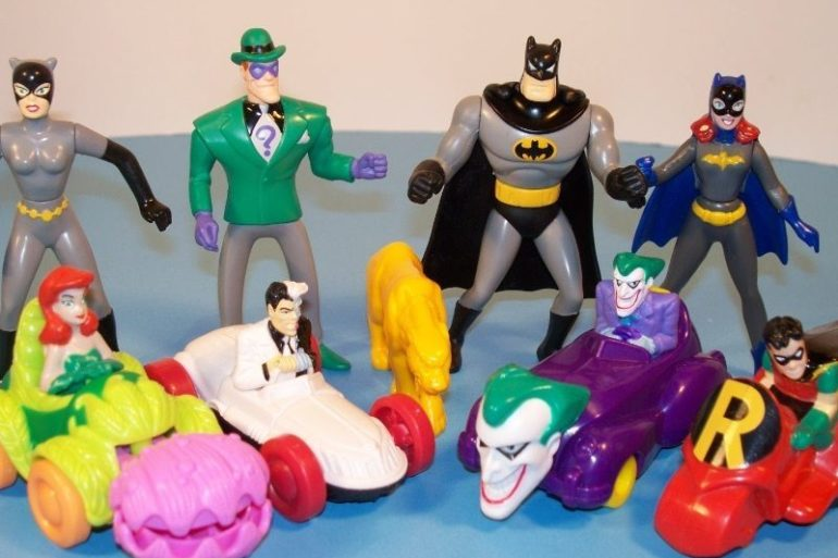 90's happy meal toys batman car figurines