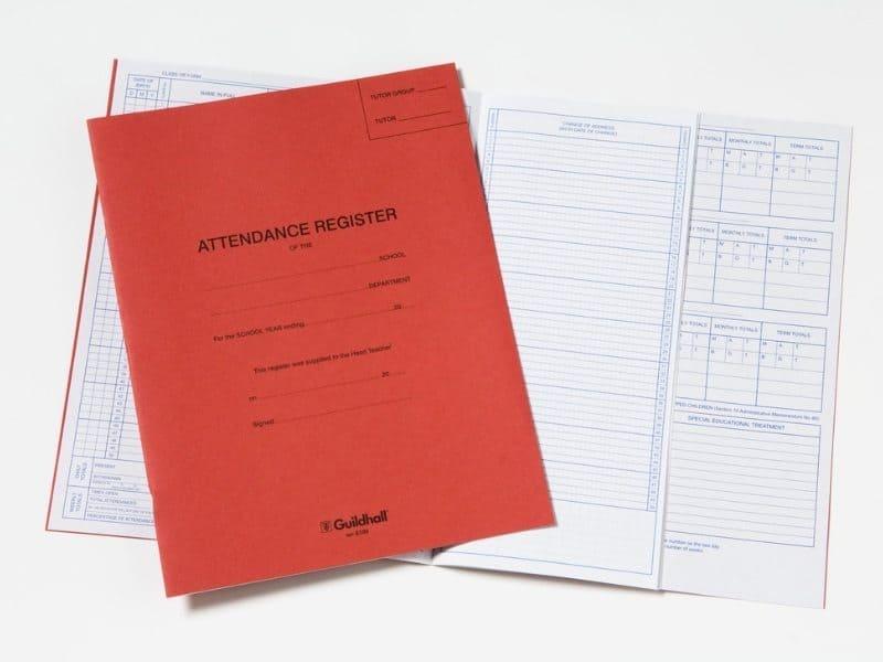 secondary school memories school register