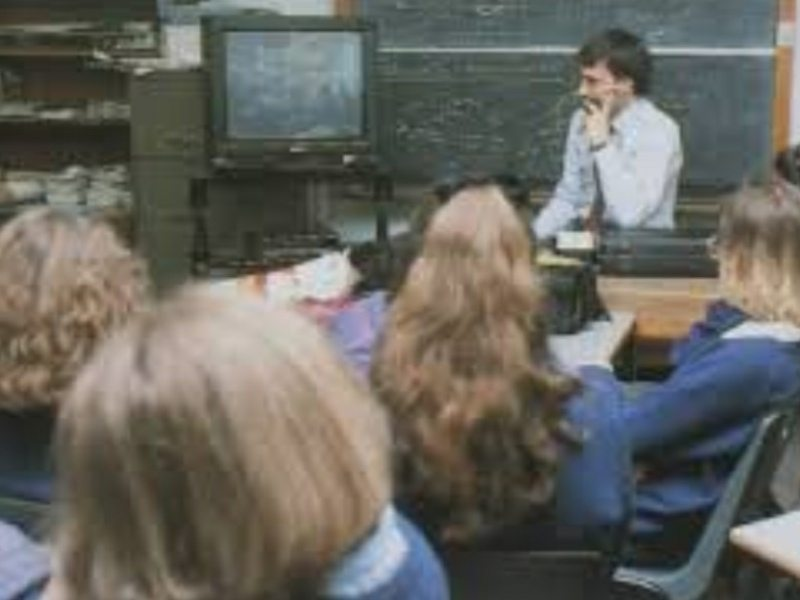 secondary school memories tv trolley