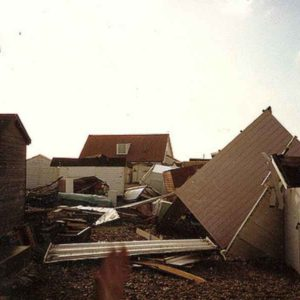 The Great Storm of 1987 beach huts