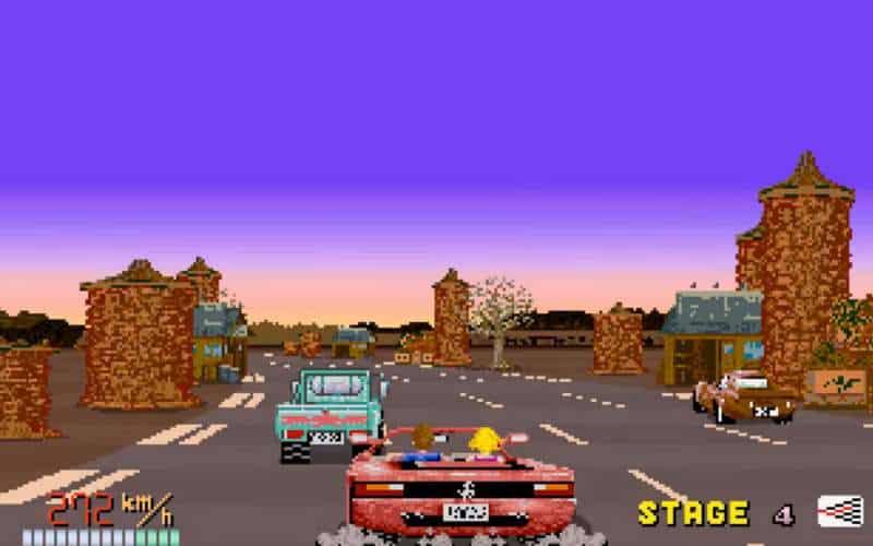 out run arcade racing game