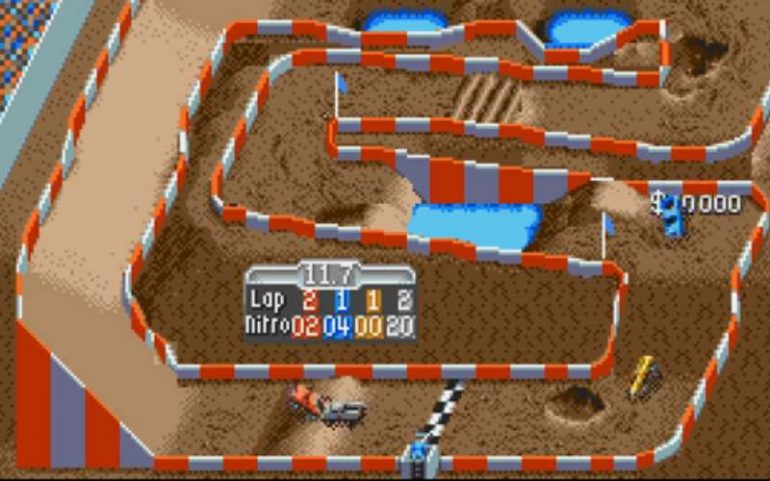 top down racing game super off road
