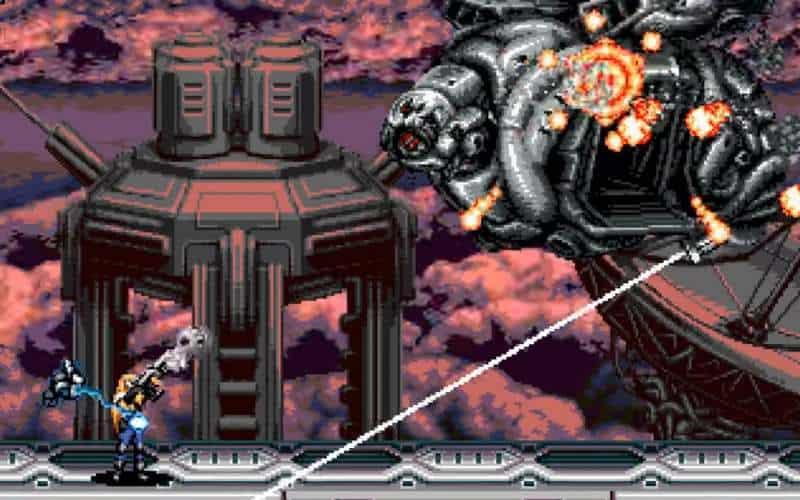 blazing chrome arcade run and gun