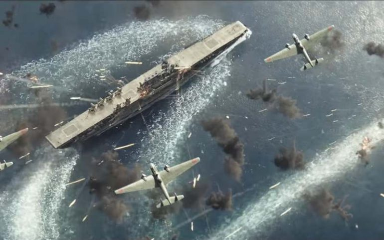 midway movie planes over aircraft carrier