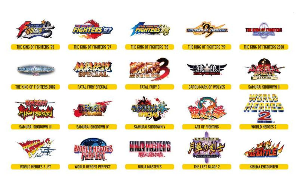 Neo Geo Arcade Stick Pro Games Lineup Announced