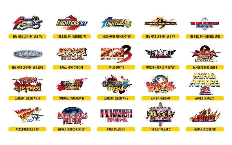 neo geo arcade stick pro games lineup