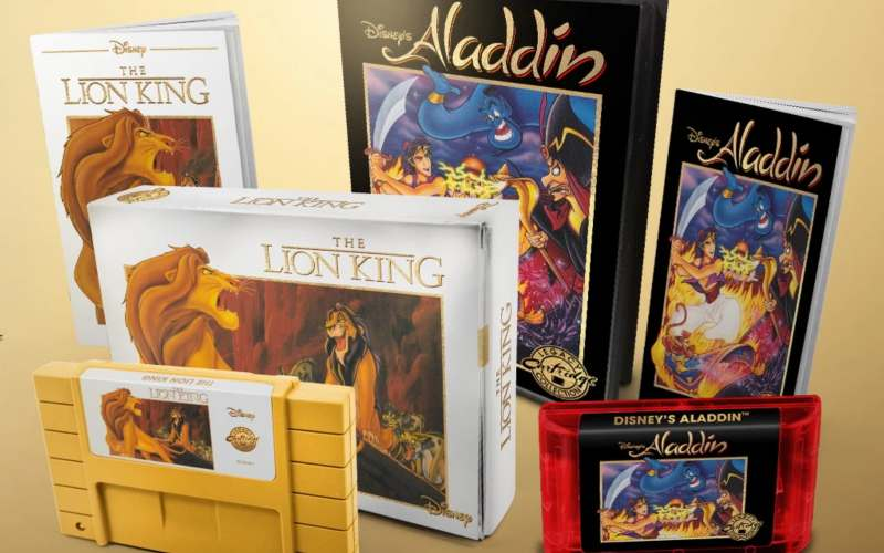 aladdin and lion king reissue on snes and megadrive