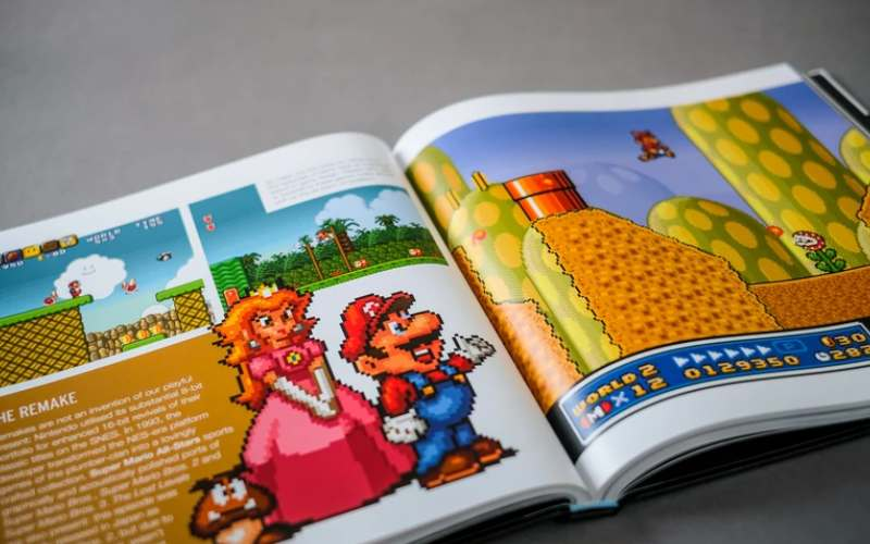 snes pixel book super mario page