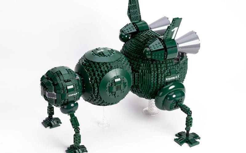 lego starbug from above